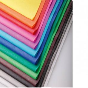 Protège-cahier  bleu clair PVC opaque (grain cuir) 20/100ème avec porte-étiquette 17x22 Ref. Clairefontaine  72010