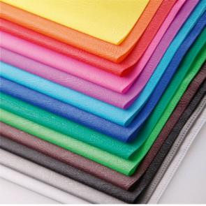 Protège-cahier PVC opaque (grain cuir) 20/100ème avec porte-étiquette 24x32 bleu victoria