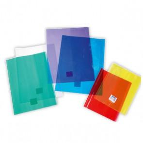Protège-cahier Cristal épais en 20/100° 17x22 avec porte-étiquette. Transparent  REF. Clairefontaine : 73000C