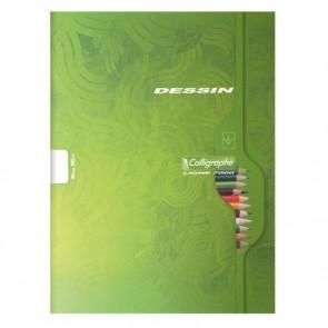Cahier de dessin  17 x 22 de 32 pages blanches unies en 90g. couverture carton souple