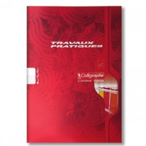 Cahier Travaux Pratiques 24X32 96p.  avec 48 blanches + 48 pages grands carreaux Seyès