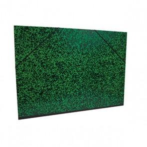 Carton à Dessin 32 x 45 cm pour feuilles A3 MOTIF Annonay marbré noir et vert Réf. Clairefontaine 542000E - CANSON -