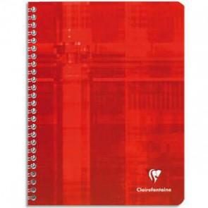 Cahier reliure spirale 21x29,7 cm A4 en 100 pages petits carreaux papier 90g de CLAIREFONTAINE.