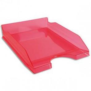 Corbeille à courrier rose translucide A4+
