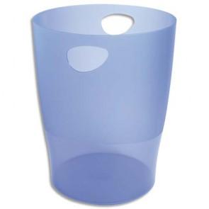 Corbeille à papier 15 l. 1er prix bleue translucide
