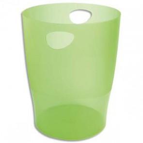 Corbeille papier vert  translucide 320739