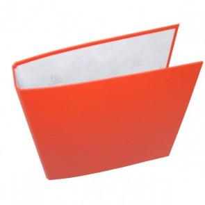 Classeur 23x21.5cm  ORANGE, carton rembordé d'une couverture plastique orange, format liste scolaire avec 2 anneaux. Référence Exacompta 650E