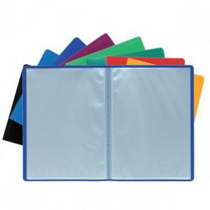 Porte Vues Protège documents A4 20 vues. Couverture souple bleue opaque