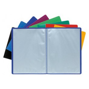 protège documents Porte vues  20 vues 8510E couleurs assorties