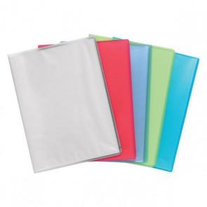 Porte Vues Protège documents A4 10 pochettes ou 20 vues. Gamme Chromaline couverture souple bleu turquoise translucide