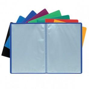 Porte-vues protège document, ou lutin, 80 vues, couverture ROUGE opaque souple.