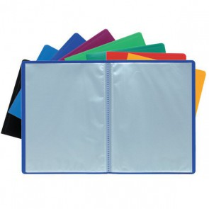 Porte-vues protège document 120 vues en 60 pochettes A4 grainées, couverture VERTE opaque souple Réf. Exacompta 8560E