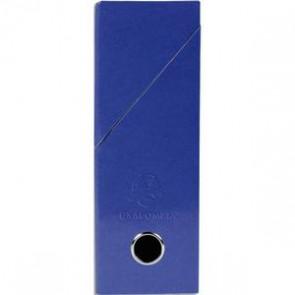 EXACOMPTA Boîte de transfert Iderama, carte lustrée pelliculée, dos 9,5 cm, 34x26 cm, coloris bleu
