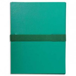 EXACOMPTA Chemise extensible, fermeture sangle velcro. Coloris vert clair.jpg