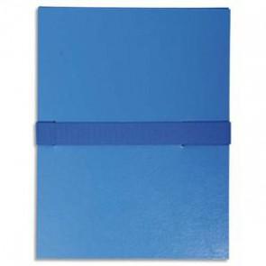 EXACOMPTA Chemise extensible, fermeture par sangle velcro. Coloris Bleu