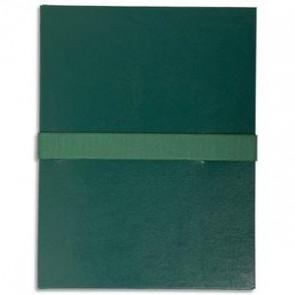 EXACOMPTA Chemise extensible, fermeture par sangle velcro. Coloris vert foncé