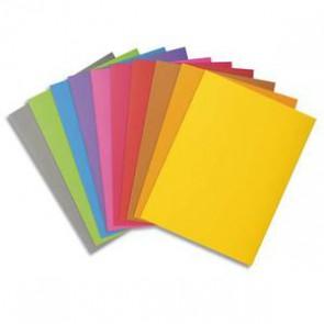 EXACOMPTA Paquet de 100 chemises en carte 210 grammes coloris assortis