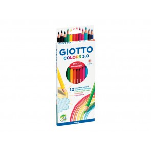 Giotto, 12 crayons de couleur aquarellables