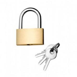 Cadenas laiton à 3 clés  largeur 30mm