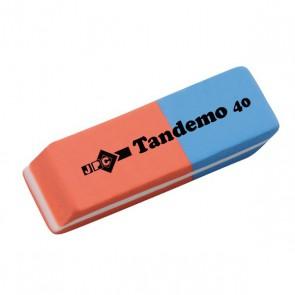 Gomme classique bleu/rouge efface encre/crayon