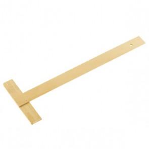règle en T règle bois 50 cm fixe : outil de traçage