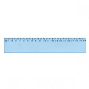 Règle 20 cm plate incassable bleutée double-décimètre