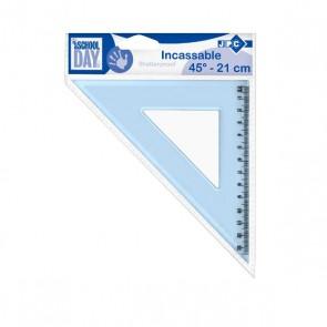 équerre 21 cm angle 45°