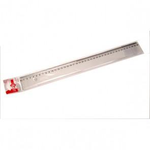 Règle plate incassable 40 cm, plastique transparent qualité scolaire