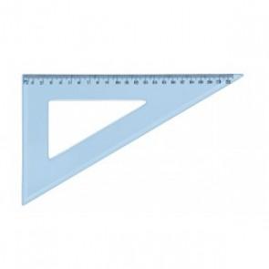 Equerre 60° de 13 cm plastique bleuté