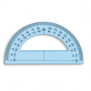 Rapporteur plastique base 12 cm
