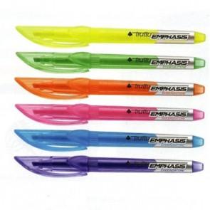 Surligneur forme stylo bleu