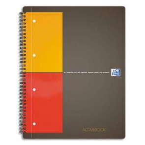 OXFORD Cahier ACTIVEBOOK spirales 160 pages perforées 80g 5x5 17x21cm