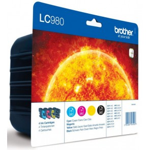 Pack Brother LC 980 3 couleurs + noir