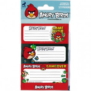 Etiquettes écoliers Angry Birds