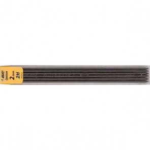 étui de 12 mines 2 mm HB : Hard & Black équilibrée : dure et couvrante en noir, de  CONTE BIC