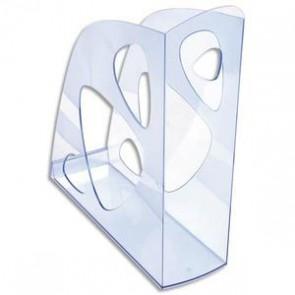 Porte-revues bleu translucide 320741
