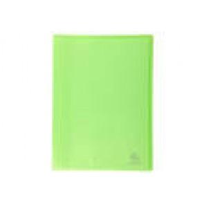 Porte-vues protège document 200 vues en 100 pochettes A4 lisses, couverture Chromaline VERT CLAIR translucide semi rigide