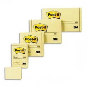 POST-IT Bloc repositionnable de 100 feuilles 51 x 76 mm jaune 656E  173692