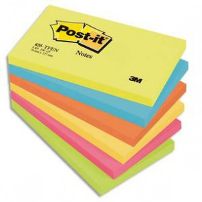 POST-IT Lot de 6 blocs couleurs vives
