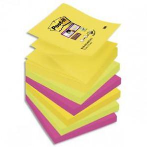 POST-IT Lot de 6 recharges Z-notes Super Sticky Rio 90 feuilles 76x76 mm