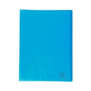 Porte-vues protège document 200 vues en 100 pochettes A4 lisses, couverture Chromaline BLEU TURQUOISE CLAIR translucide semi rigide