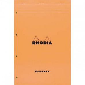 RHODIA Bloc audit format 21x 32 80 grammes perforé jaune