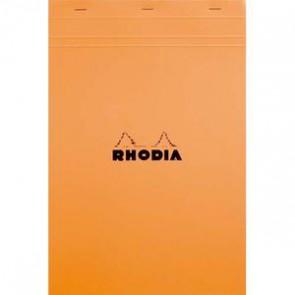 RHODIA Bloc couverture orange 80 feuille N° 19 format A4+ réglure 5x5  195939