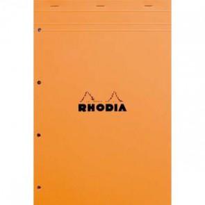 RHODIA Bloc N 20 couverture orange 80 feuilles détachables + perforées