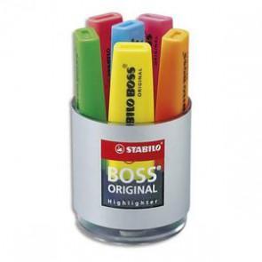 STABILO Pot à crayons garni de 6 surligneurs
