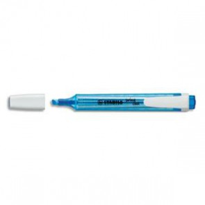 Surligneur de poche pointe biseautée bleu SWING COOL