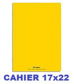 CAHIER 17X22